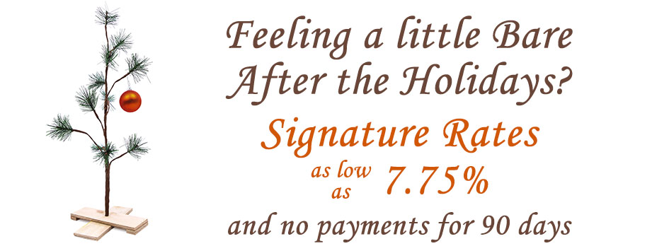 After holidays signature rates as low as 7.75