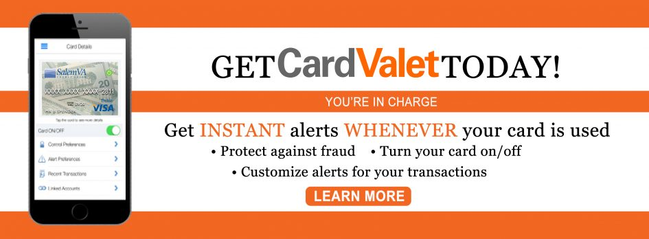 Download CardValet to protect your debit card