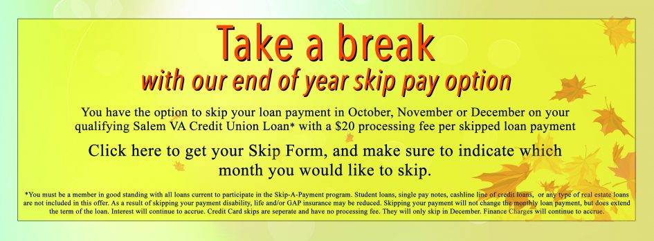 Skip your SVACU loan