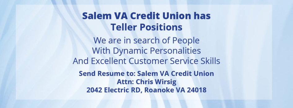 Salem VA - Now Hiring