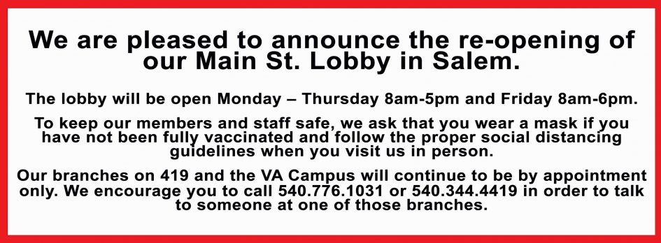 Salem Lobby Open